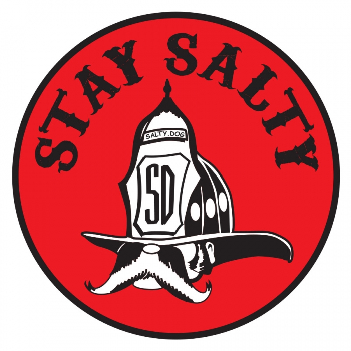 Stay Salty Firefighter Helmet Decal