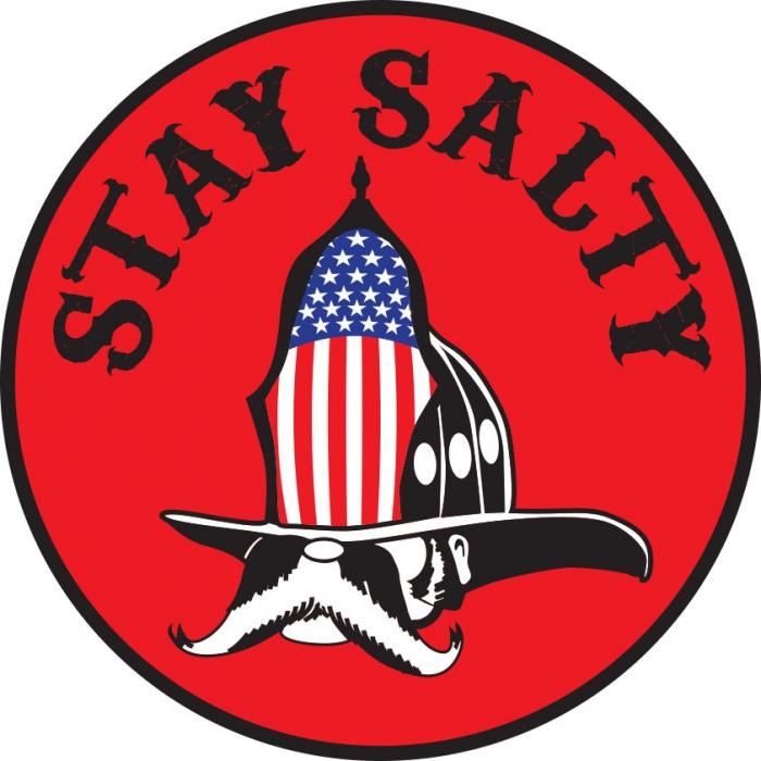 Stay Salty Firefighter Flag Sticker