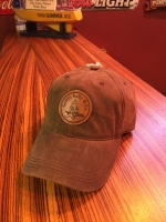 Gettin' Salty Chocolate Leather Patch Waxed Cotton Hat