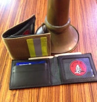 Bunker Gear Tan Firefighter Wallet