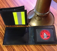 Bunker Gear Black Firefighter Wallet