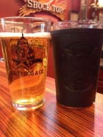 Maltese Cross Pint Glass Black Wrap Combo