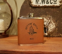 Gettin Salty Rawhide Stainless Flask