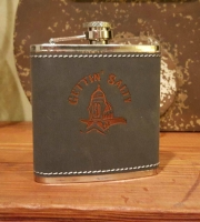 Gettin Salty  Gray Rawhide Stainless Flask
