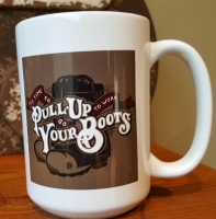 Pull Up Your Boots Ceramic Coffee Mug