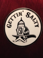 Gettin Salty White Helmet Decal