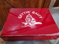 Gettin Salty Rosewood Humidor and Cigar Cutter