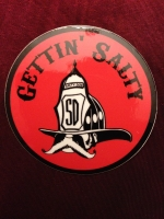 Gettin Salty Red Helmet Decal