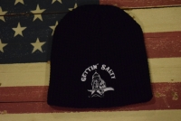 Gettin Salty Black Knit Skully