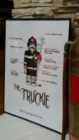 Truckie Firefighter Print