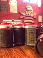 Gettin Salty Logo Leather Koozie with Fire Hose